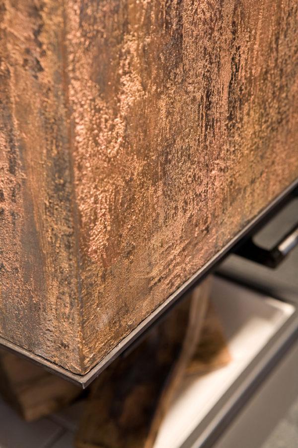 calce, polvere di grafite e di rame. Dettaglio. anno: 2011