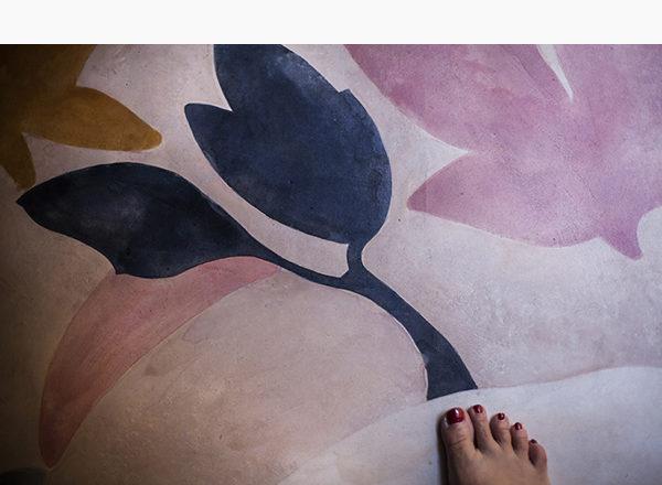 PAVIMENTO DIPINTO - Pavimento in resina dipinto ad acquerelli - anno: 2009