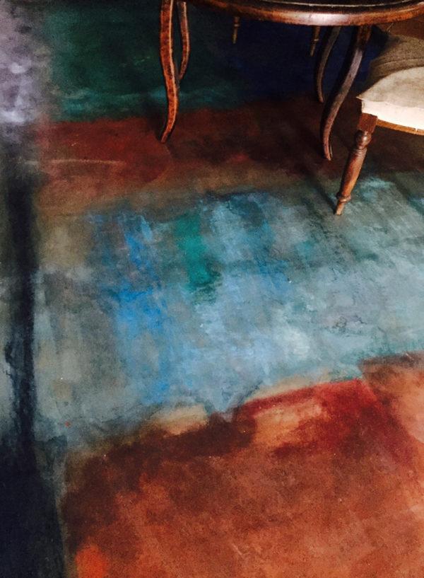 Pavimenti dipinti di Grazia Lombardi. Tappeto dipinto