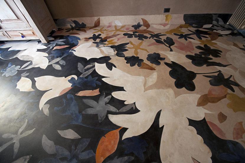 Grazia Lombardi; pavimenti dipinti; pavimento dipinto; acquerelli; anno: 2009